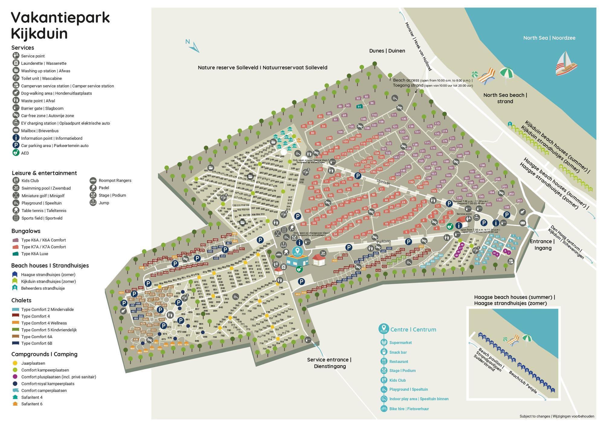Praktischer Grundriss Ferienpark Kijkduin